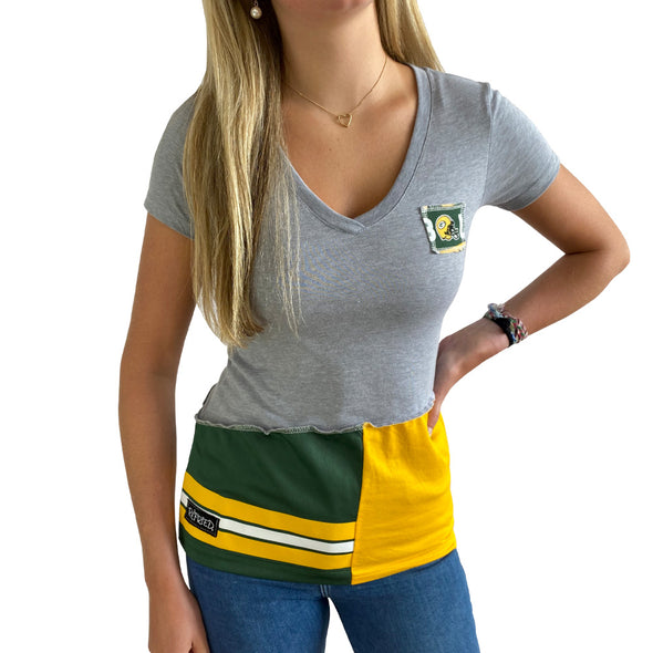 Green Bay Packers V-Neck Top