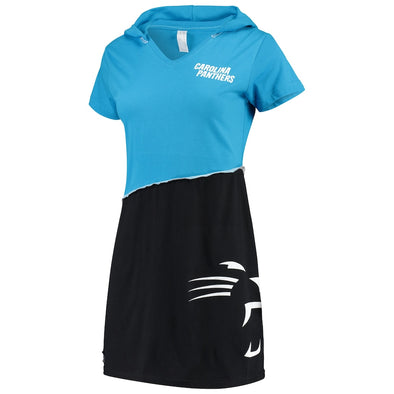 Carolina Panthers Hooded Mini Dress