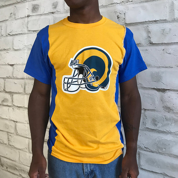 Los Angeles Rams Split Side Short Sleeve Tee Top
