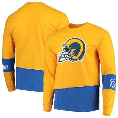 Los Angeles Rams Split Angle Long Sleeve Tee Top
