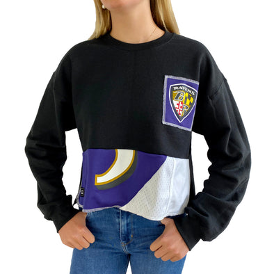 Baltimore Ravens Crew Crop Sweatshirt