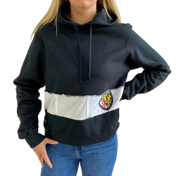 Baltimore Ravens Hooded Crop Sweatshirt