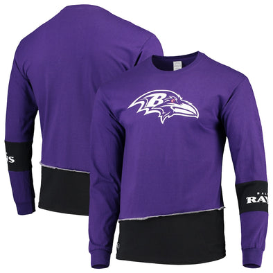 Baltimore Ravens Split Angle Long Sleeve Tee Top