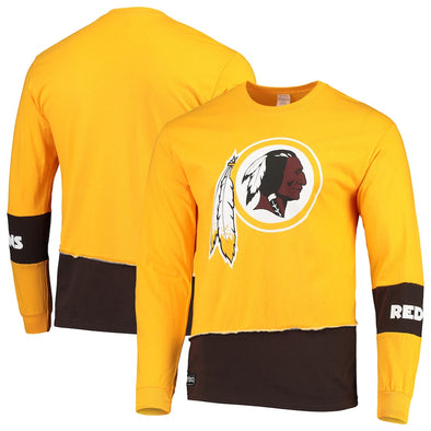 Washington Redskins Split Angle Long Sleeve Tee Top