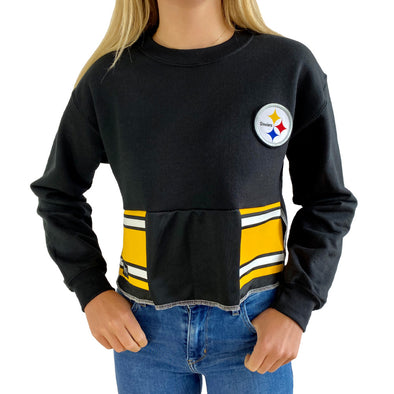 Pittsburgh Steelers Crew Crop Sweatshirt