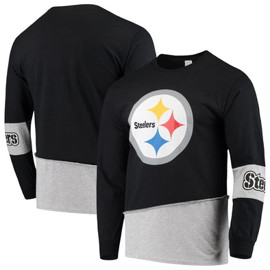 Pittsburgh Steelers Split Angle Long Sleeve Tee Top