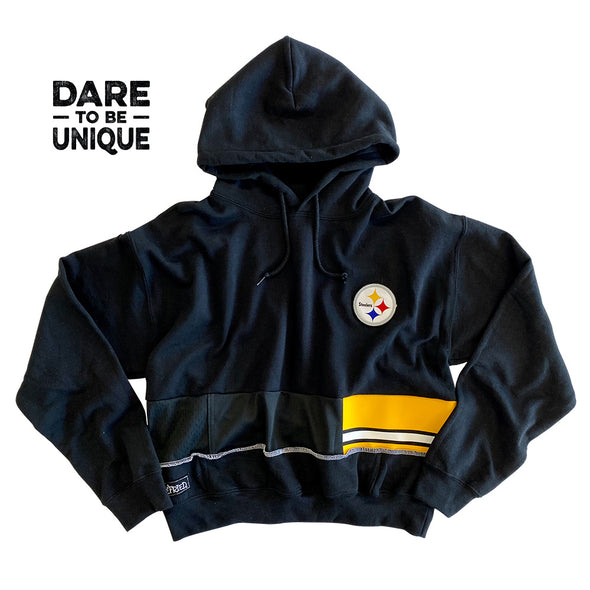 Pittsburgh Steelers Hooded Crop Sweatshirt