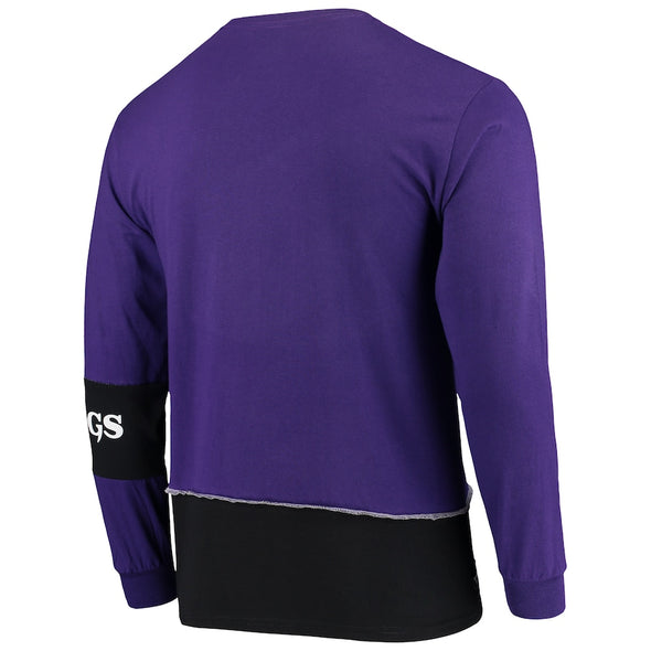 Minnesota Vikings Split Angle Long Sleeve Tee Top