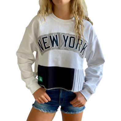 New York Yankees Crew Crop Sweatshirt