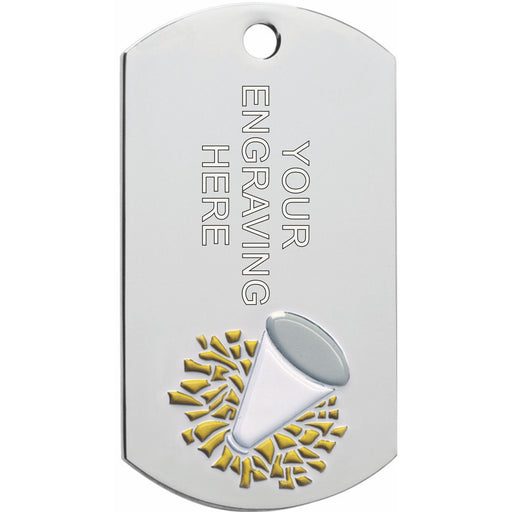 Cheer Dog Tag Medal