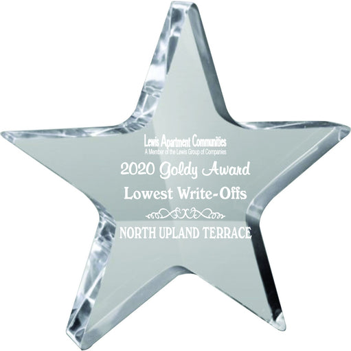 Star Shaped Acrylic Award Acrylic Awards
