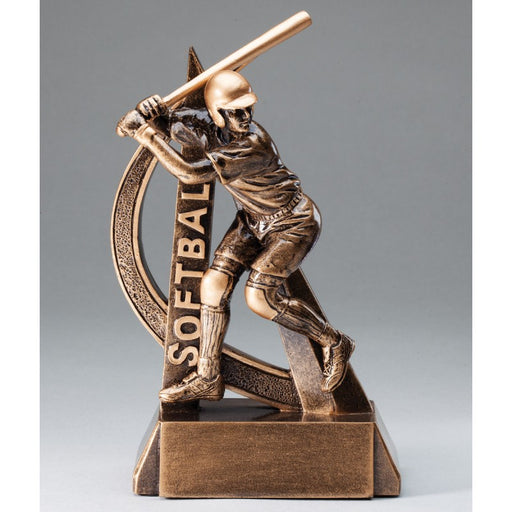 "8"" Ultra Action Softball Trophy"