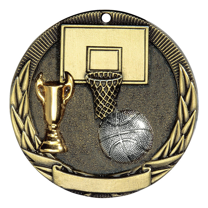Basketball Tri-Color Medallion