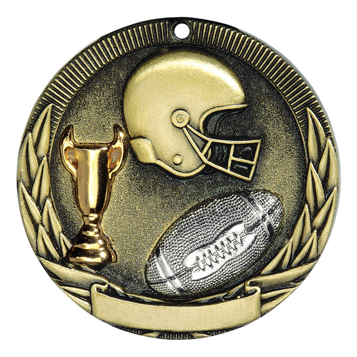Football Tri-Color Medallion