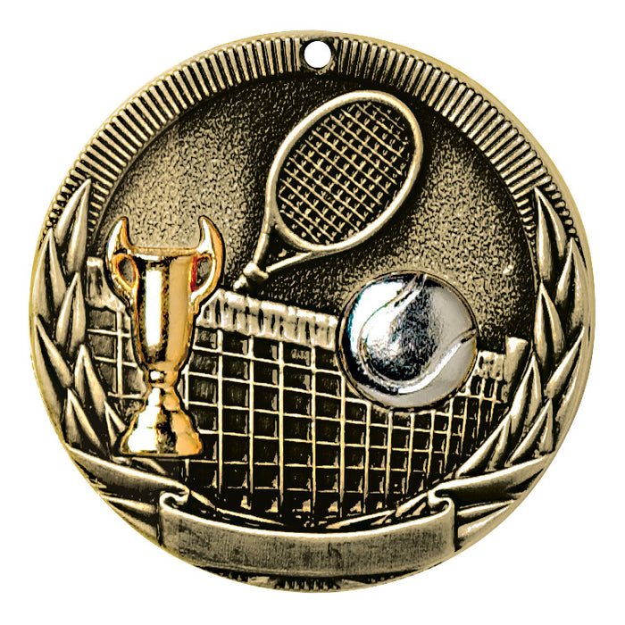 Tennis Tri-Color Medallion