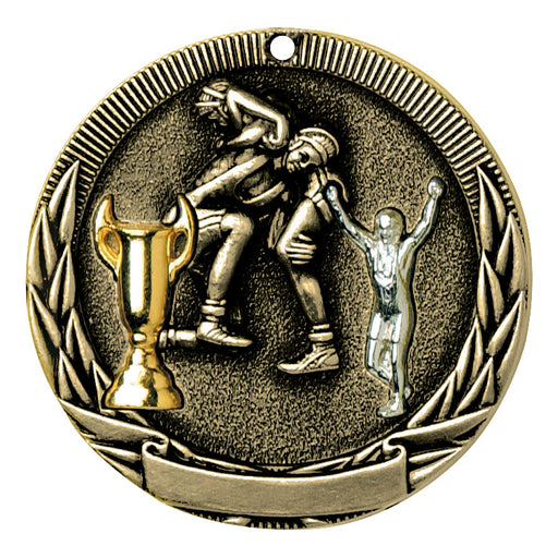 Wrestling Tri-Color Medallion