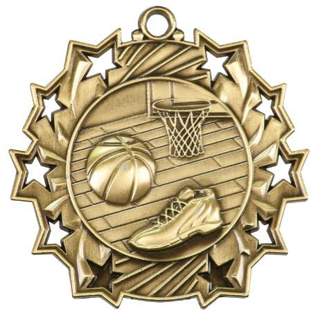 Ten Star Medallion - Basketball