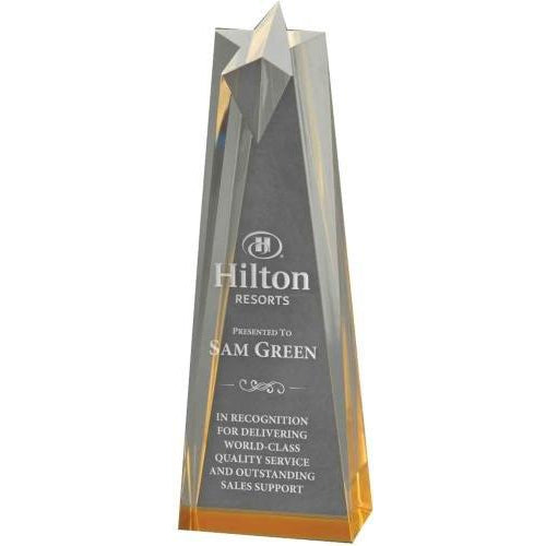Spectra Obelisk Star Acrylic Acrylic Awards - Action Awards
