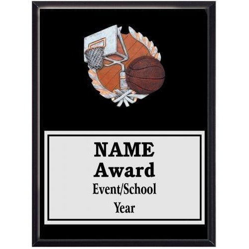 Basketball Icon Plaque - Black Finish