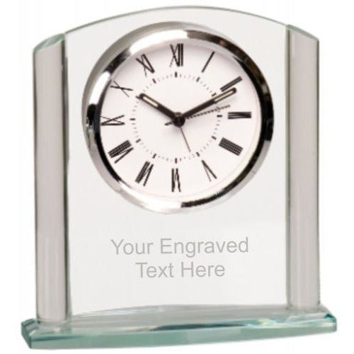 Glass Arch Desk Clock Clock Awards
