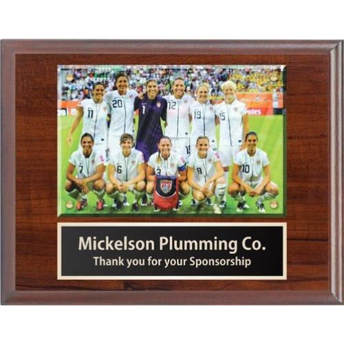 7 x 9 Cherry Finish Picture Plaque Coach Gifts
