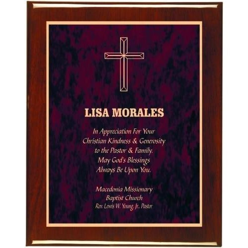 Red Marble Plate Piano Finish Plaques Corporate Plaques