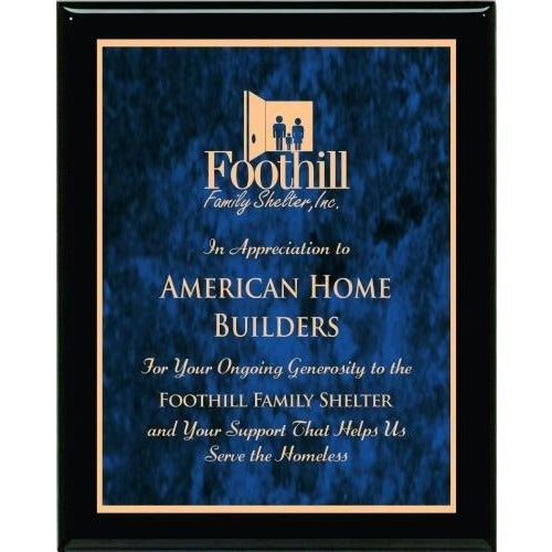 Blue Marble Plate Piano Finish Plaques Corporate Plaques