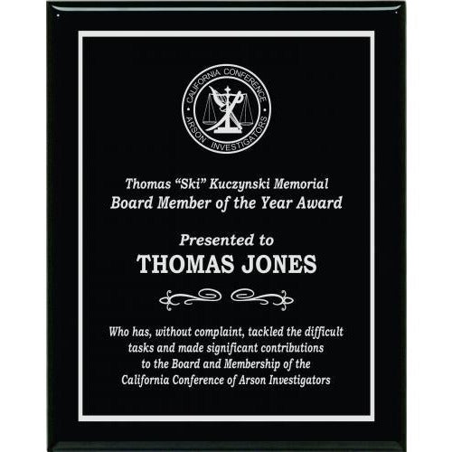 Black Piano Finish Plaques Corporate Plaques - Action Awards