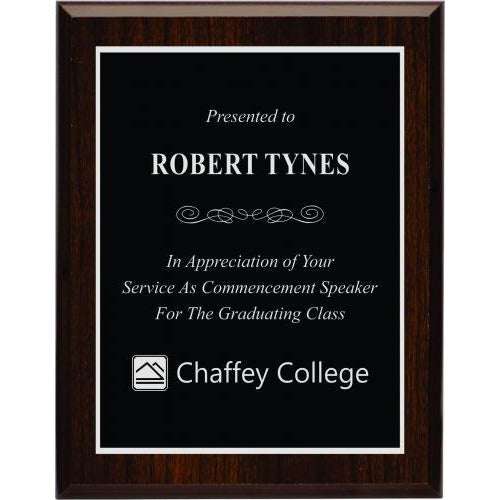 Cherry Wood Finish Plaque Corporate Plaques