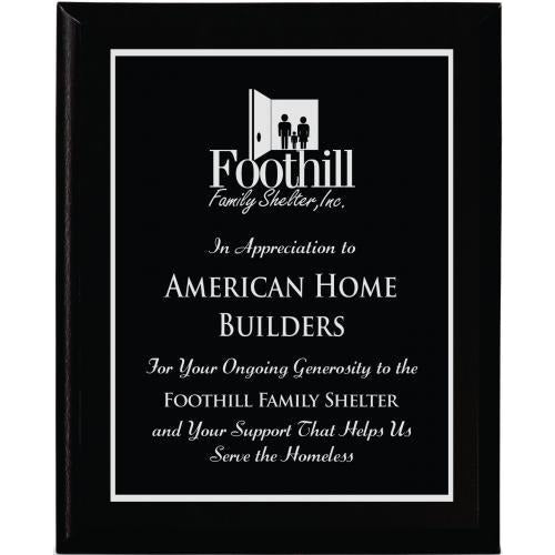 Black Wood Finish Plaque Corporate Plaques - Action Awards