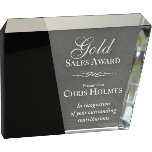 Corporate Crystal Eclipse Crystal Glass Awards Black