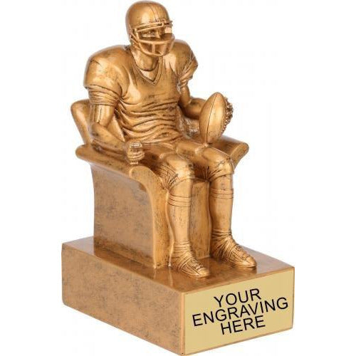 Gold Fantasy Football Award Fantasy Football Trophies - Action Awards