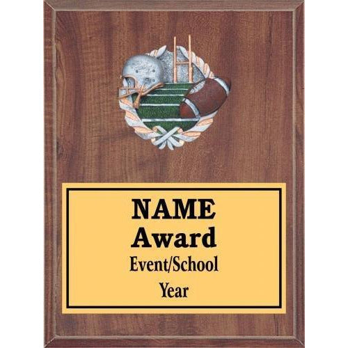 Football Icon Plaque - Cherry Finish