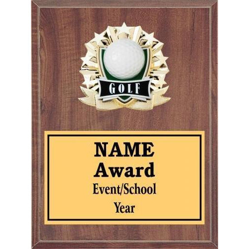Golf All Star Plaques Golf