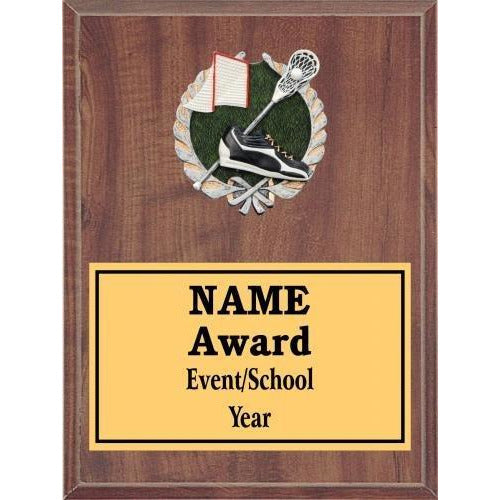 Lacrosse Icon Plaque - Cherry Finish