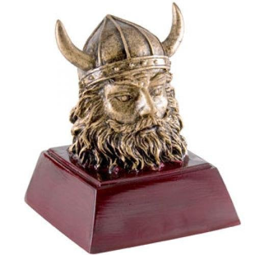 Viking Head Resin Mascot Awards