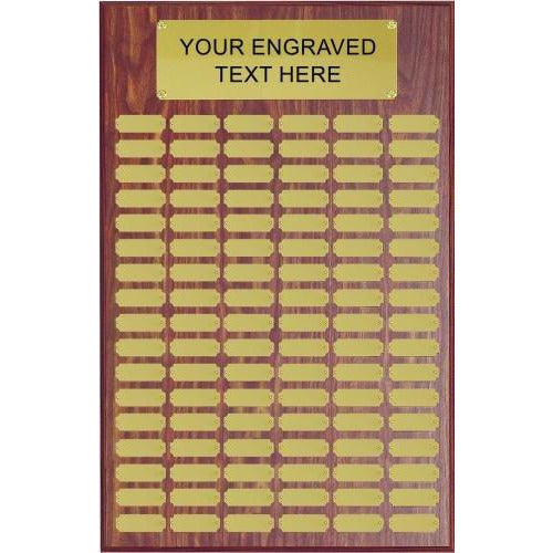 Perpetual Plaque Assembled With Satin Gold Plates Perpetual Plaques