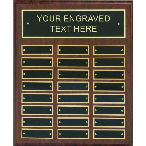 Cherry Finish Perpetual Plaques Perpetual Plaques