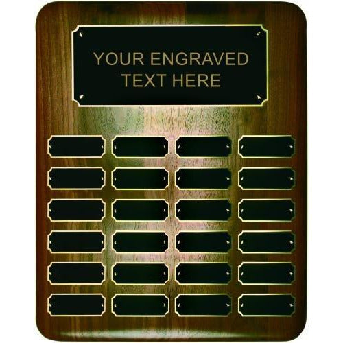 Elliptical Walnut Perpetual Plaque Perpetual Plaques