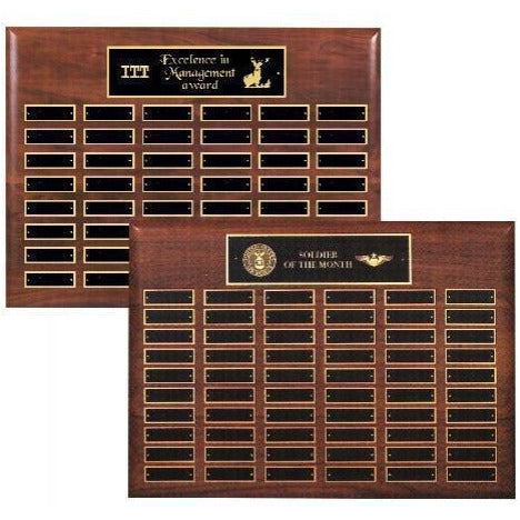 Perpetual Plaque Assembled with Black Plates Perpetual Plaques - Action Awards