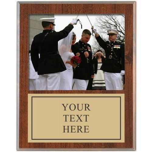 11 1/2 x 15 Cherry Finish Picture Plaque Picture Plaques