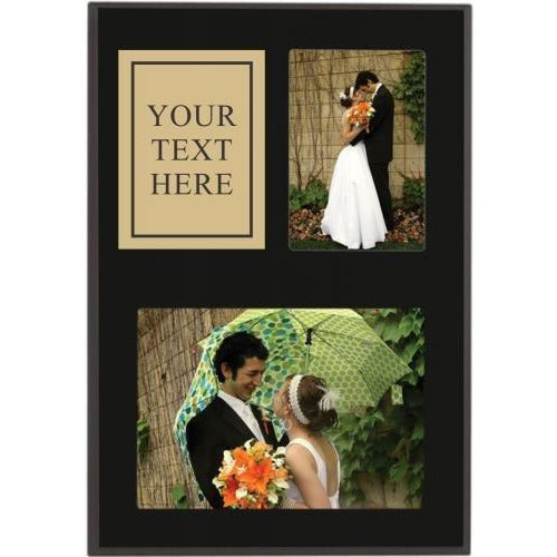 9 x 13 Matte Black Finish Picture Plaque