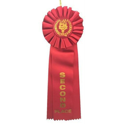 2nd Place Rosette 12 Ribbon Ribbons