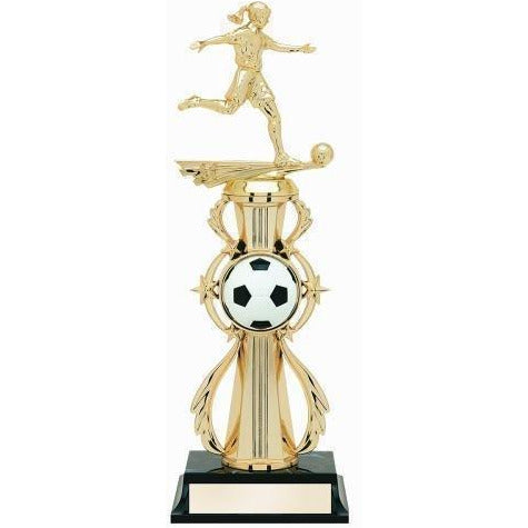 Soccer All Star Female Trophy With Riser Soccer
