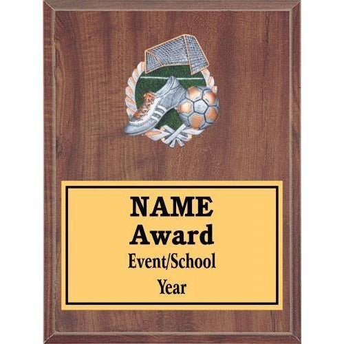 Soccer Icon Plaque - Cherry Finish