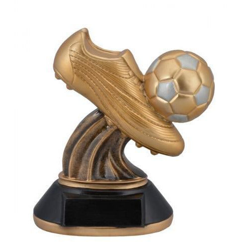 Golden Cleat Soccer Resin Soccer Trophies