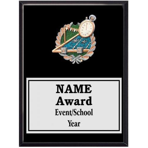 Swimming & Diving Icon Plaque - Black Finish