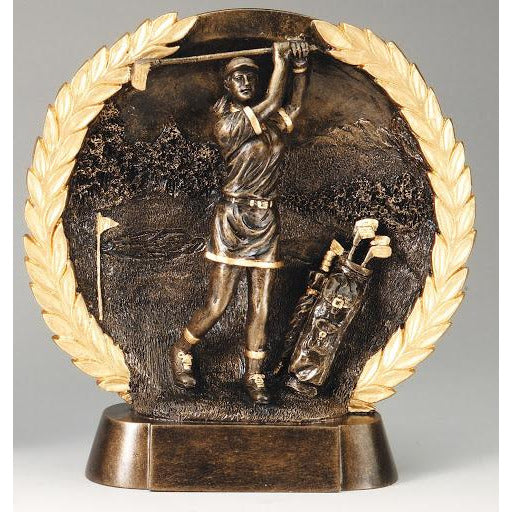 "7 1/2"" Golf High Relief Resin Trophy"