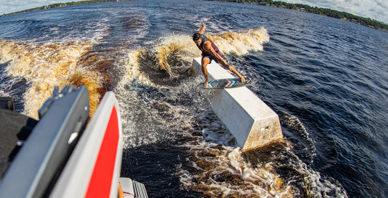 Sean Silveira Lands First Wakesurfing Rail Slide