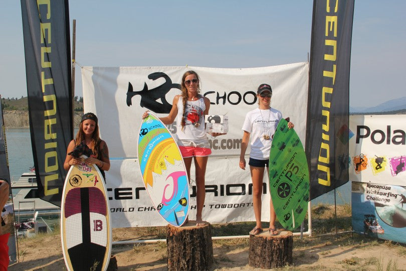 Brittney taking home a 2nd place in Womens Pro Skim